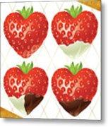 Chocolate - 7  Strawberry Metal Print