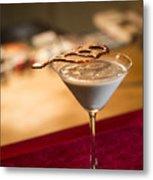 Chocolate And Cream Martini Cocktail Metal Print