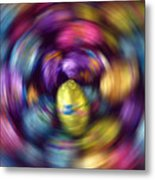 Chocolate Easter Eggs With Spin Effect Metal Print