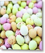 Chocolate Eggs Metal Print