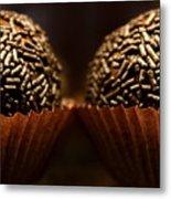 Chocolate Truffles Metal Print