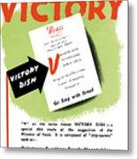 Choose For Victory -- Ww2 Metal Print