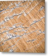 Chopped Up Veneered Wood Board Metal Print