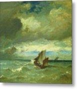Choppy Sea 1870 Metal Print