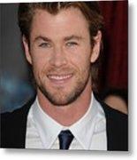 Chris Hemsworth At Arrivals For Thor Metal Print