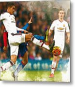 Chris Smalling  In Action  Metal Print