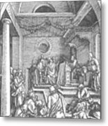 Christ Among The Doctors In The Temple 1503 Metal Print