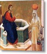 Christ And The Samaritan Woman Fragment 1311 Metal Print