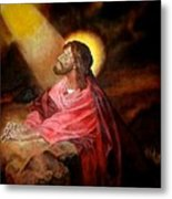 Christ At Gethsemane Metal Print