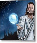 Christ At Night Metal Print