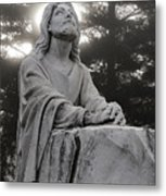 Christ At Prayer Metal Print by Robert  Suits Jr
