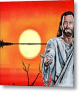 Christ At Sunrise Metal Print