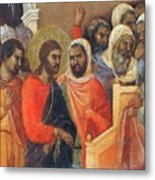 Christ Before Caiaphas Fragment 1311 Metal Print