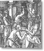 Christ Being Crowned With Thorns 1510 Metal Print