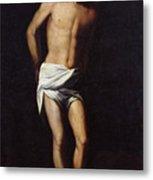 Christ Bound To The Column Metal Print