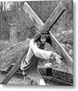 Christ Carrying Cross, Vadito, New Mexico, March 30, 2016 Metal Print