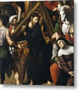 Christ Carrying The Cross Metal Print