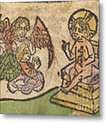 Christ Child With Three Angels Metal Print