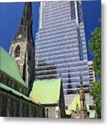Christ Church Cathedral Montreal Metal Print