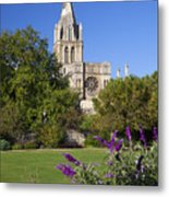 Christ Church Cathedral Oxford University Uk Metal Print