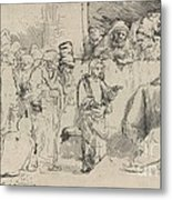 Christ Disputing With The Doctors: A Sketch Metal Print