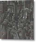 Christ Disputing With The Doctors Metal Print