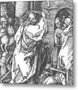 Christ Driving The Merchants From The Temple 1511 Metal Print