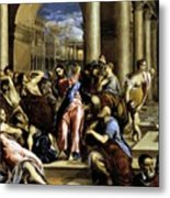 Christ Driving The Traders From The Temple 1576 Metal Print