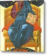 Christ Enthroned Icon  Metal Print