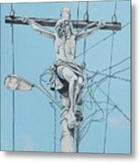 Christ From Mexico Metal Print