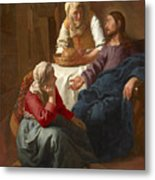 Christ In The House Of Martha And Mary Metal Print