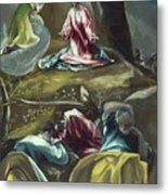 Christ In The Olive Garden Metal Print