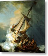 Christ In The Storm Metal Print