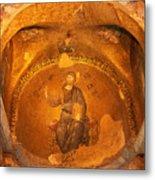 Christ Mosaic Metal Print