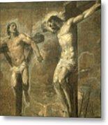 Christ On The Cross And The Good Thief Metal Print