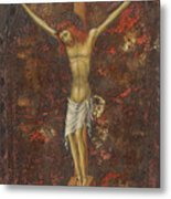 Christ On The Cross  Metal Print