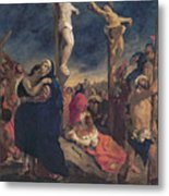Christ On The Cross Metal Print by Delacroix