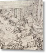 Christ On The Mount Of Olives 1521 Metal Print