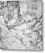 Christ On The Mount Of Olives 1524 Metal Print