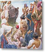 Christ Preaching From The Boat Metal Print