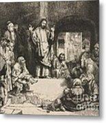 Christ Preaching (la Petite Tombe) Metal Print