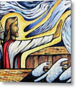 Christ Rebukes The Wind And Waves Metal Print