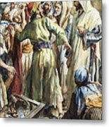 Christ Removing The Money Lenders From The Temple Metal Print