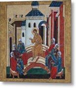 Christ Teaching In The Temple Metal Print