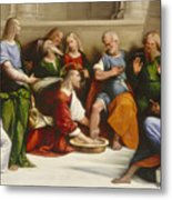 Christ Washing The Disciples' Feet Metal Print