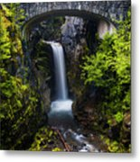 Christine Falls - Mount Rainer National Park Metal Print