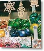 Christkindlmarkt Vienna Ornaments Metal Print