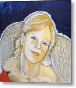 Christmas Angel   finished Metal Print