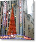 Christmas At Radio City Music Hall Metal Print