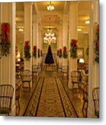 Christmas At The Mount Washington Hotel Metal Print